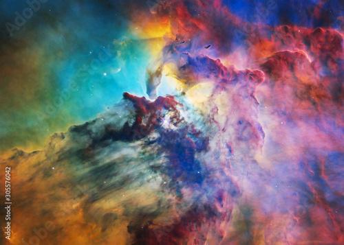 Obraz na plátne The Lagoon Nebula in bright colours