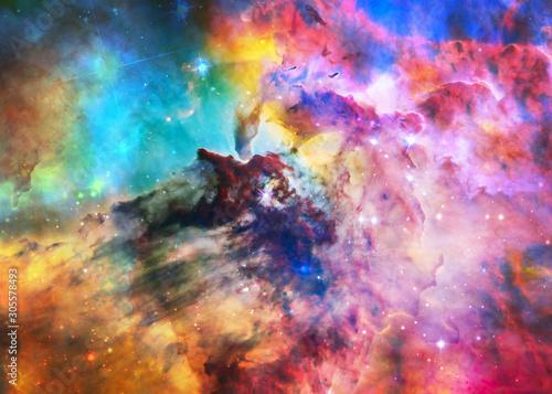Fotografiet The Lagoon Nebula in bright colours