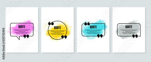 Obraz na plátně Quote box frame, big set