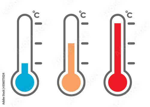 Canvas Print 温度計アイコンセット