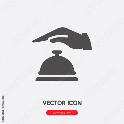 Fototapeta hotel bell icon vector