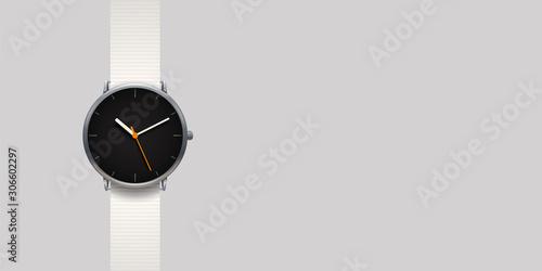 Canvas-taulu modern classic watch on grey background