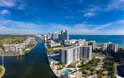 Fotografija Aerial view panorama of Fort Lauderdale