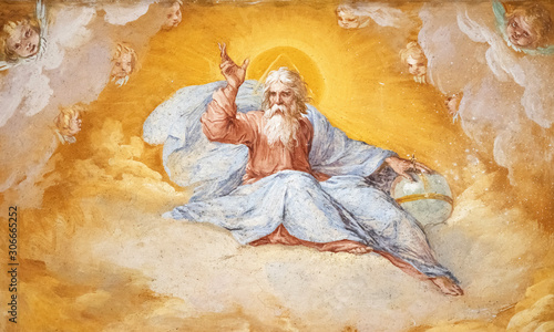 Fotografia Painted divine figure church of San Sebastiano Rome