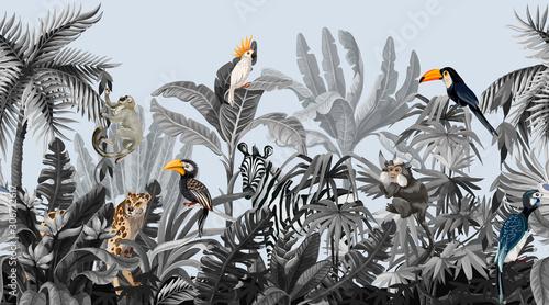 monochromatyczna-dzungla-z-drzewami-i-zwierzetami