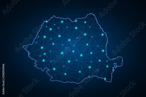 Photo Map of Romania