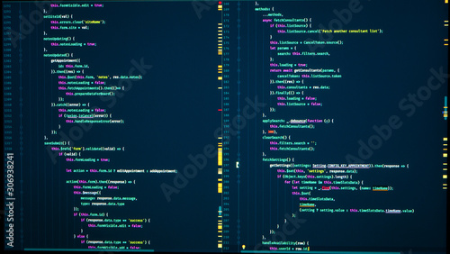Fotografie, Obraz Java code of web page