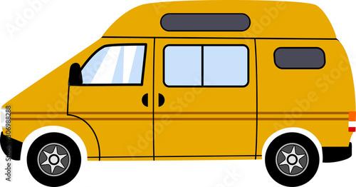 Obraz na płótnie Simple Yellow Touring Camper Van
