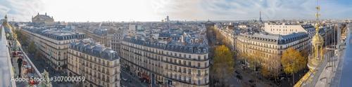 Photographie Paris, France - 11 30 2019: Boulevard Haussmann