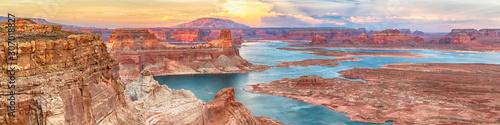 Fotografia Lake Powell panoramic sunset landscape, Arizona, USA