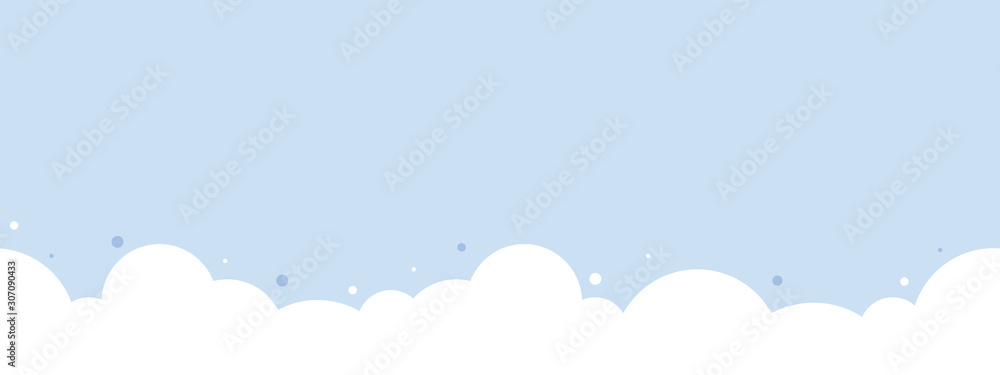 Śliczna biel chmura na pastelowym niebieskie niebo dna granicy bezszwowym wzorze. <span>plik: #307090433 | autor: K Ching Ching</span>