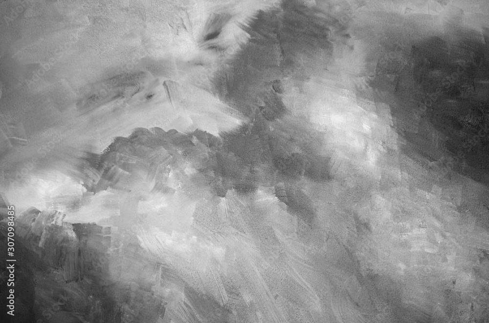 Obraz Abstract gray watercolor background texture fototapeta, plakat