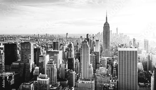 Fotografia New York City Skyline in schwarz weiß