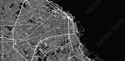 Wallpaper Mural Urban vector city map of Buenos Aires, Argentina