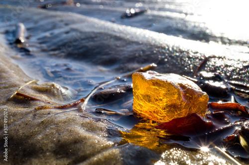amber in the Wadden Sea in Cuxhaven, Germany Fototapete