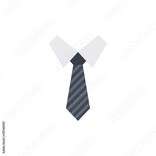 Tableau sur Toile Necktie Vector Flat Illustration. Pixel perfect Icon Style.