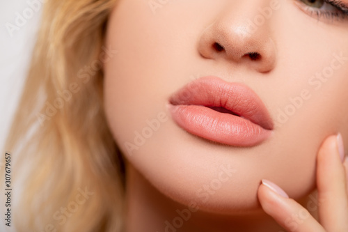 Carta da parati Beautiful lips Close-up