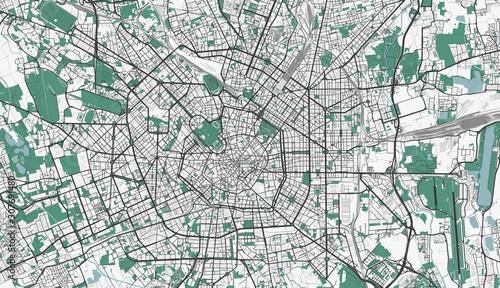 Photo Detailed map of Milan, Italy