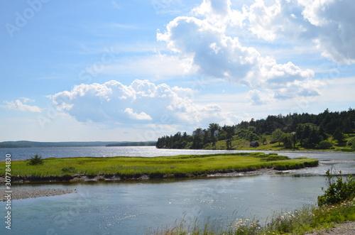 Canvastavla Summer in Nova Scotia: Northwestern Corner of Catelone Lake on Cape Breton Islan