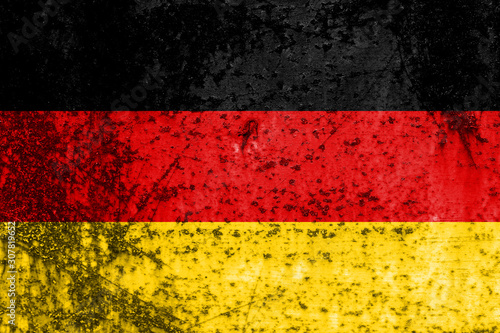 Wallpaper Mural flag of germany with texture. template for design