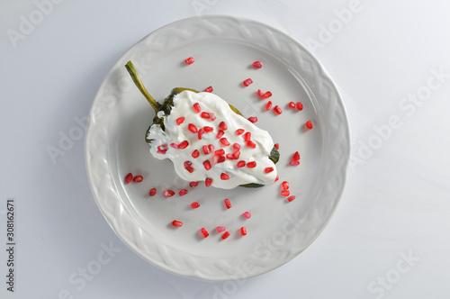 Plato de chile en nogada Fototapeta