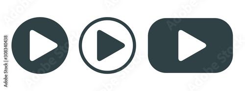 Stampa su Tela Player Button set icon sign – vector