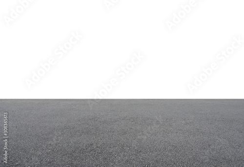 Empty asphalt floor isolated on white background Fotobehang