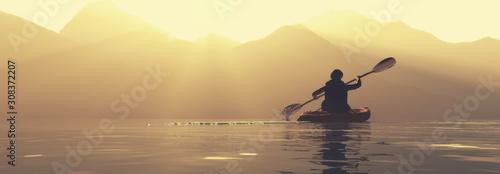 Photographie explore mountains kayak