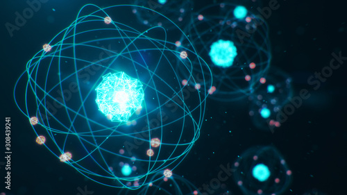 Tableau sur Toile Abstract atom model