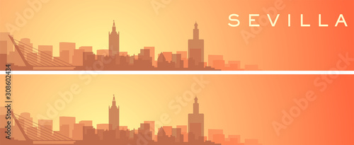 Seville Beautiful Skyline Scenery Banner