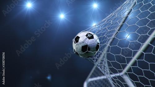 Fotografia Soccer ball flew into the goal