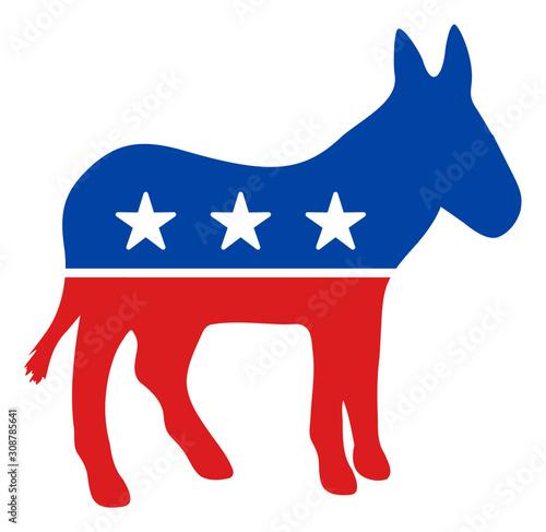 Photo Democratic donkey vector icon
