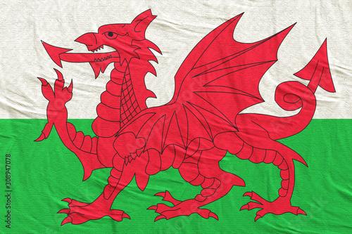 Wales flag waving Fototapeta