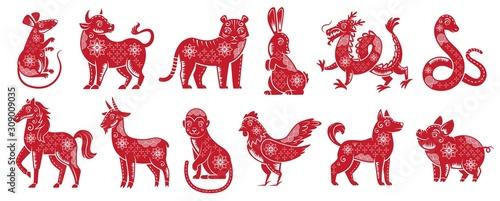 Obraz na płótnie Chinese Zodiac New Year signs