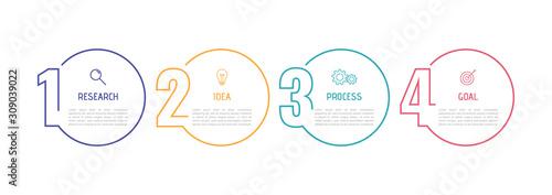 Fotografia Business process infographic template