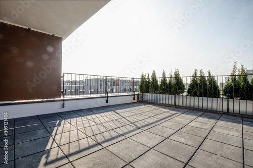 Photo small terrace in new build flat