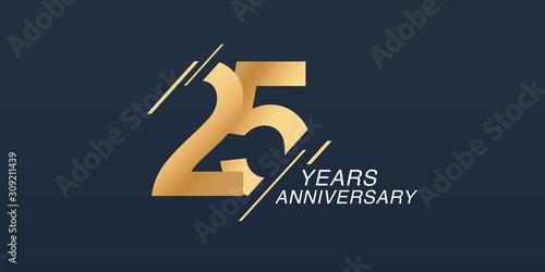 Wallpaper Mural 25 years anniversary vector icon, logo