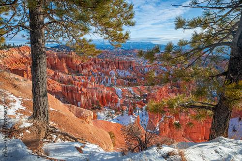 Fényképezés Bryce Canyon National Park, Winter snow. Utah. USA.
