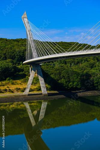 Fototapeta Stunningly beautiful Terenez bridge to the Crozon Peninsula