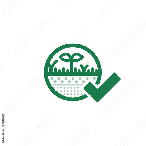 Tablou Canvas Green Regenerative Vector Illustration of Sedimentation