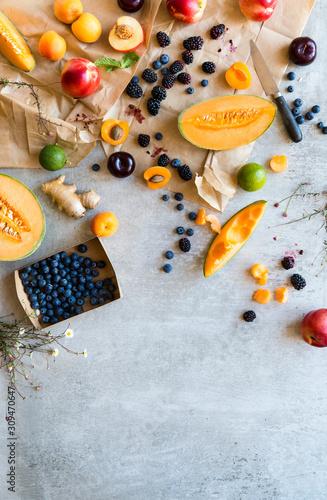 Fototapete Variety of fruit