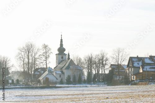 Canvas Print ODROWAZ, POLAND - DECEMBER 06, 2019: Church of Mary Magdalene