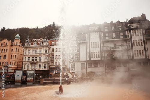Fotografie, Obraz Karlovy Vary Czech Republic / view of the landscape city of Karlovy Vary, a tour