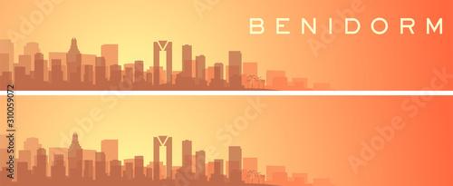 Benidorm Beautiful Skyline Scenery Banner