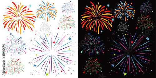 Canvas Print Background design with fireworks