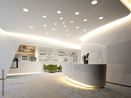 Carta da parati 3d render luxury spa wellness center