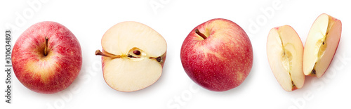 Fotografiet Fresh apple on white background