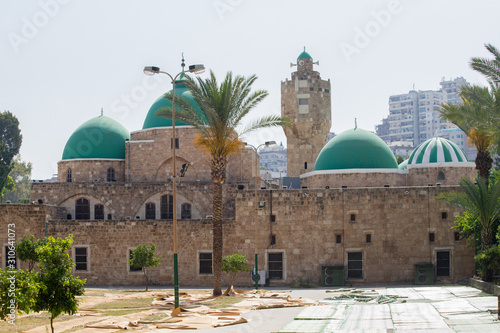 Exterior of the Taynal Mosque. Tripoli, Lebanon - June, 2019