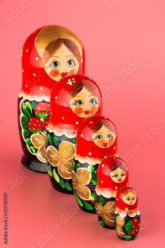 Wallpaper Mural Russian folk wooden doll