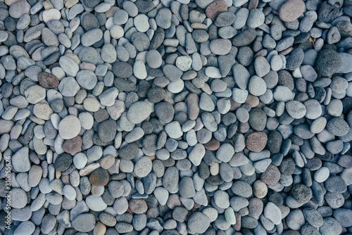 boulder pebble beach Stones background Seamless Tileable Texture Fototapeta